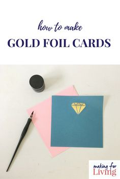 Make gold foil cards