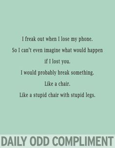 Like a stupid chair with stupid legs.