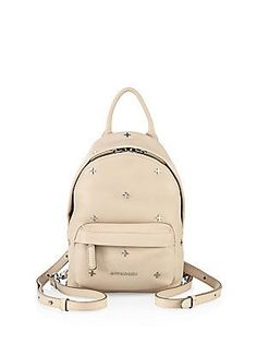 Givenchy Nano Cross-Studded Leather Backpack - Nude