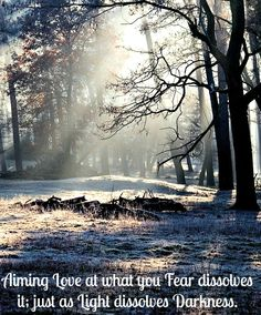 Aiming #Love at what you #Fear dissolves it; just as #Light dissolves #Darkness. #YouHaveASuperpower
