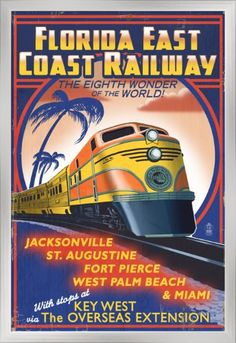 GERMAN RAILROADS vintage train travel poster SLEEK EFFICIENT FAST 24X36 new