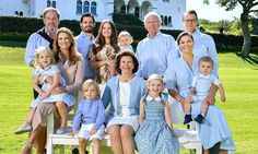 Royal Family of Sweden greet everybody a summer holiday wishes through their social media account, July 2017