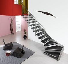 1000 images about escaliers limon on pinterest - Escalier limon lateral ...