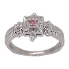 14k White Gold Chatham Pink Diamond Ring (ov_81774)  #Diamond #PinkDiamond #Pink #Ring #DiamondRing #GenerousGems @generousgems #gorgeous #repin #pin #Diamond #jewelry
