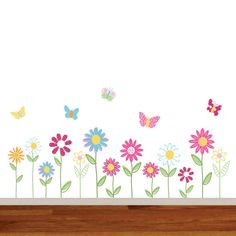 Vinyl Wall Decal Stickers Daisy Flowers by wallartdesign on Etsy