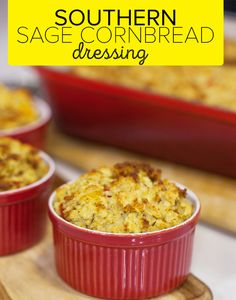 This golden, crispy Southern sage cornbread dressing (AKA stuffing) will steal the show from the turkey on your Thanksgiving table. Thanksgiving Side Dishes, Thanksgiving Recipes, Holiday Recipes, Side Dish Recipes, Snack Recipes, Snacks, Dishes To Go, Main Dishes, Slow Cooker Recipes