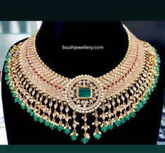 Diamond Jewelry, Diamond Bangle, Stone Jewelry, Gold Jewelry, Diamond Earrings, Bridal Jewelry, Beaded Jewelry, Bead Jewellery, Small Necklace