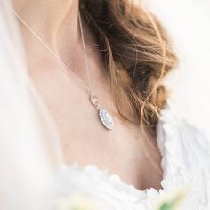 Bridal jewelry, bridal necklace, custom jewelry, wedding day accessories, wedding jewelry, bridal accessories, bridal custom jewelry, necklace available at The Bridal Boutique by MaeMe, Louisiana