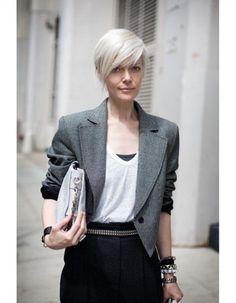 Coupe courte asymétrique - Les 50 plus belles coupes courtes de Pinterest - Elle