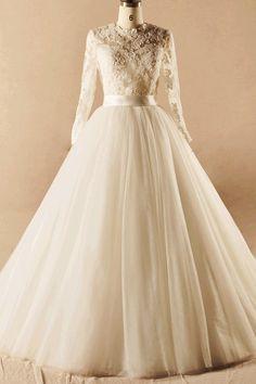 Customized Ivory Wedding Dresses, Long Wedding Dresses, Long Ivory Wedding Dresses #weddingdresses2018 #longdresses #weddingdresslong #lacedress