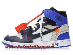 sports shoes d8bbc bfd16 Off-White x Nike Air Jordan 1 OW AA3834-103 Chaussures Jordan Officiel Pas