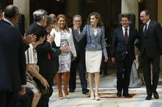 Queen Letizia at the 'Reina Letizia 2015' awards ceremony