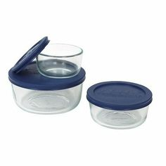 6 Piece Storage Plus Set by Pyrex. $16.24. BPA free plastic lid is dishwasher safe (top rack only). Made in the USA. 6-pc Round Storage Plus Set. Ideal for refrigerator and freezer storage or taking food on the go. 6-pc Storage Plus value pack includes 1 each; 1-cup Round, 2-cup Round, 4-cup Round with matching Blue Plastic Covers. 1080340 Features: -Shapes are nestable and stackable.-Plastic lids for optimal food storage.-Non-porous glass won't absorb food flavo...
