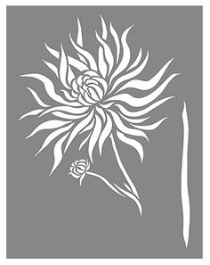 Chrysanthemum Stencil 2 for Walls