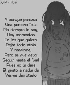Read 53 # from the story imagenes sad (╥_╥) anime by with 92 reads. Words Can Hurt, Emo Love, Crushing On Someone, I Hate My Life, Sad Anime, Some Quotes, Some Words, Love Messages, My Photos
