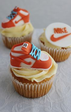 Nike Shoe Cupcakes by lydiabakes, via Flickr