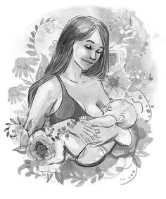 Breastfeeding Art Picture