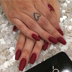 50 Fall Red Nail Art for Hot Women Fashion Nails Art Red, Red Matte Nails, Pastel Nails, Perfect Nails, Gorgeous Nails, Prom Nails, Long Nails, Trendy Nails, Cute Nails
