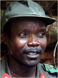 "Joseph Kony, head of the Lord's Resistance Army, responsible for kidnapping tens of thousands of children, to turn them into sex slaves and child soldiers (now numbering 66,000). ""Crimes against humanity"" is almost an understatement: when you so blithely steal someone's childhood, you've done more than murdered them."