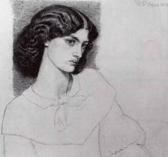 Dante Gabriel Rossetti - Jane Burden, aged 18 (detail)(Morris married Jane the next year)