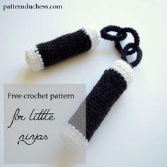 free pattern for crochet nunchucks