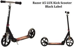 Razor lux kick scooter in black from the best folding scooter for 8 years old and above boys and girls and adults Kids Ride On Toys, 8 Year Old Boy, Kick Scooter, 8 Year Olds, Scooters, A5, Cool Kids, Boy Or Girl, Kicks