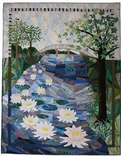 http://www.annfahl.com/gallery/quilt/47/the-walking-bridge-art-quilt