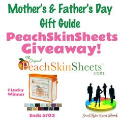 PeachSkinsSheets Giveaway! 1 Lucky Winner ~ Ends 5/03 @SMGurusNetwork @PeachSkinSheets Welcome to the PeachSkinSheets Giveaway! 1 winner – any color or size of the best sheets ever! This contest is hosted by the Social Media Gurus Network! Below is a list of all the bloggers involved in the gift guide. Michigan Saving and More Deliciously …