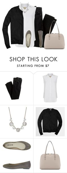 """""""Simple"""" by jjill ❤ liked on Polyvore featuring J.Crew, Current/Elliott, Betsey Johnson, Kate Spade, women's clothing, women, female, woman, misses and juniors"""