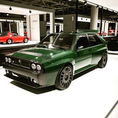Yeah, we'd take one… but in red… Lancia Delta Integrale Evoluzione Futurista. Yeah, we'd take one… but in red 😎 Maserati, Ferrari, Retro Cars, Vintage Cars, Rc Chassis, Lancia Delta Integrale, Alfa Cars, Evolution, Automobile