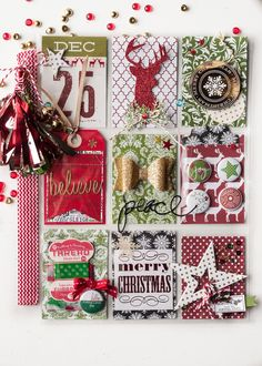 I have been making Christmas Pocket Letters. I have been making A LOT of Christmas Pocket Letters. I may have gone overbo. Christmas Journal, Christmas Scrapbook, Christmas Minis, Reindeer Christmas, Christmas Countdown, Pocket Pal, Pocket Cards, December Daily, Project Life Scrapbook