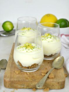 Cocktail Desserts, Mini Desserts, No Bake Desserts, Dessert Recipes, Chef Recipes, Sweet Recipes, Cooking Recipes, Salmon Appetizer, Lemon Mousse