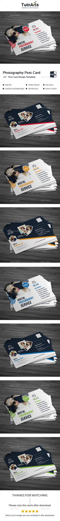 Photography Postcard Design Template PSD