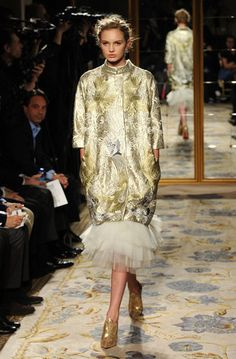 Gorgeous Gold Brocade, Tulle, Metallic shoes - Marchesa Fall 2012