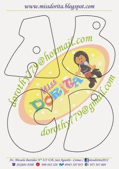 Miss Dorita: Abecedario Grande 3 Brush Lettering, Lettering Design, Hand Lettering, Felt Name Banner, Name Banners, Bow Template, Book Letters, Handwritten Letters, Lettering Tutorial
