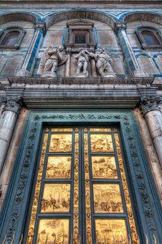 Gates of Paradise - Lorenzo Ghiberti - Florence Baptistery - Florence, Italy