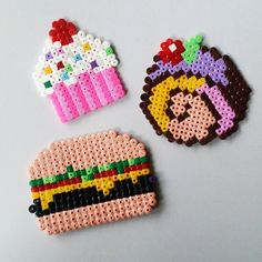 Food hama beads by pysselpolly