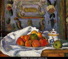 Dish Of Apples - Paul Cezanne - www.paul-cezanne.org