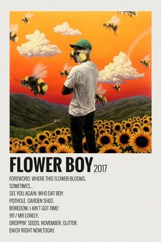 Alternative Minimalist Polaroid Music Album Poster - Flower Boy by Frank Ocean Photowall Ideas, Vintage Music Posters, Vintage Movies, Iconic Movie Posters, Film Posters, Art Posters, Minimalist Music, Music Collage, Wall Collage
