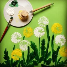 Druckteckniken mit Bastelfarbe- The Effective Pictures We Offer You About spring art projects for ki Spring Projects, Spring Crafts, Projects For Kids, Diy For Kids, Art Projects, Crafts For Kids, Arts And Crafts, Creative Crafts, Easy Crafts