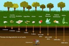 time of degradation in the ground