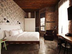 beautiful industrial design Wythe Hotel Manhattan NY, #industrialdesign #goodformpl