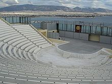 The Veakeio Theater on the hill of Kastella, with view to the Saronic Gulf, Mount Hymettus and the southeastern part of Athens. Find Hotels, Hotels Near, My Athens, Athens Greece, Athens Guide, Southern Europe, Tourist Information, Archaeological Site, Plan Your Trip