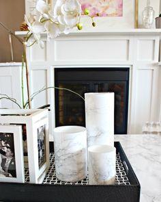 DIY marble vase, Mar