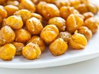 Chickpea Snackers; roasted until crispy.  These turned out really well, but eat the same day you make them.  They do not save well.