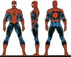 Spider-Man turnaround.