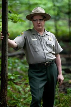 Darrell Hammond as a forest ranger in Nature Calls movie. Watch out Smokey theres a new ranger in town