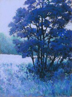 Blue Dogwood by Marsha Savage Pastel ~ 16 x 12