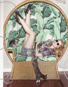 -Kristiina Wilson, Fashion Photographer (i love the tropique pattern on the furniture)