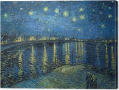 cf9ed886a09dc8 Vincent van Gogh - Starry Night Over the Rhone Canvas Print • Pixers® • We  live to change
